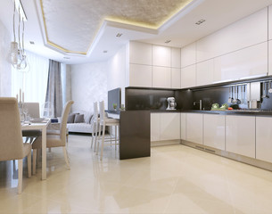 Kitchen interior, modern style