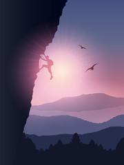 Rock climber background