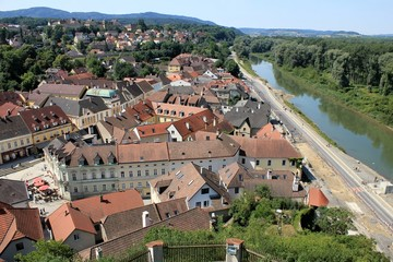 Melk streets and roofs