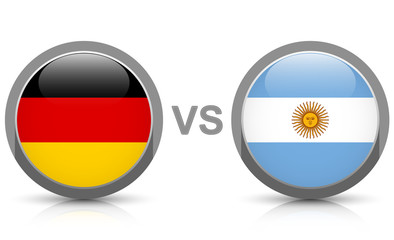 Germany vs. Argentina - icons buttons with national flags
