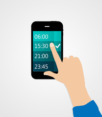 Alarm for Different Electronic Devices Concept. Vector Illustrat