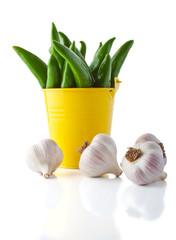 Hot pepper and garlic