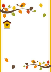 Fall invitation card template
