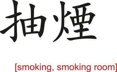 Chinese Sign for smoking, smoking room