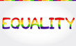 """Equality"" stylized word with rainbow"