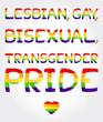 Lesbian, gay, bisexual, transgender pride phrase