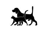 Fototapety silhouette of pets