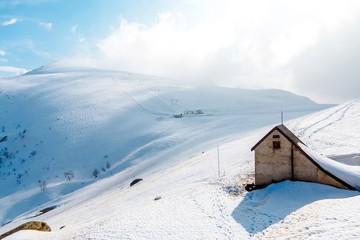 Ski Hütte in Alps