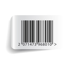 Barcode label template vector