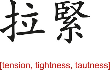 Chinese Sign for tension, tightness, tautness