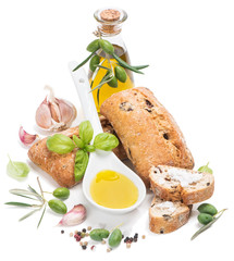 bread, olive and oil
