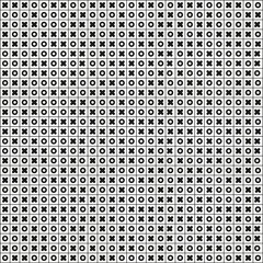 Tic tac toe (Noughts and crosses, Xs and Os) seamless pattern