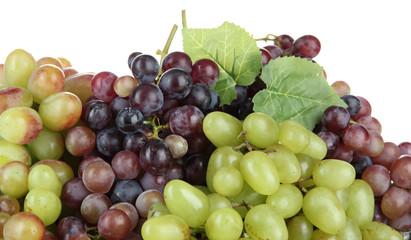 Fresh grape, isolated on white