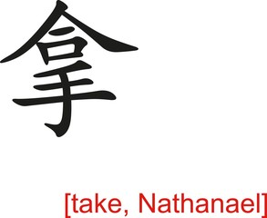Chinese Sign for take, Nathanael