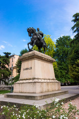 Statue of Garibaldi in Verona, Italy