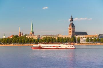 Panorama of old Riga. Latvia