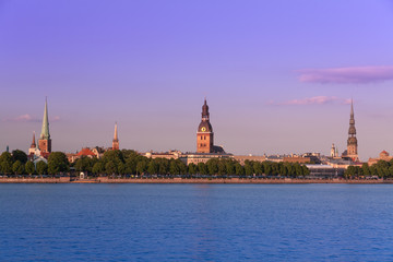 Panorama of old Riga. Latvia.