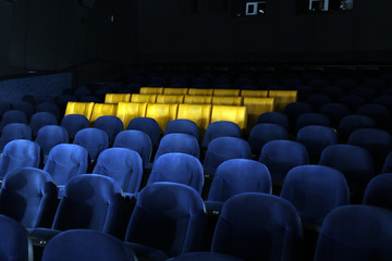 Empty comfortable seats in cinema