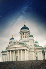 Helsinki Catheral . Elements of this image furnished by NASA