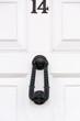 Door number 14 and door knocker