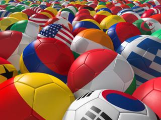 Soccer balls BG