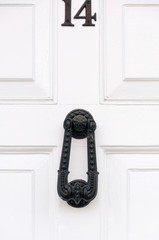 Door number 14 and door knocker