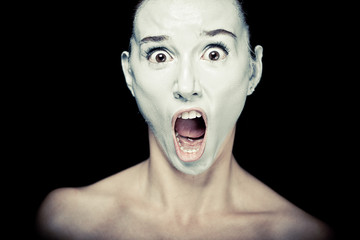 Scene of a Woman Screaming