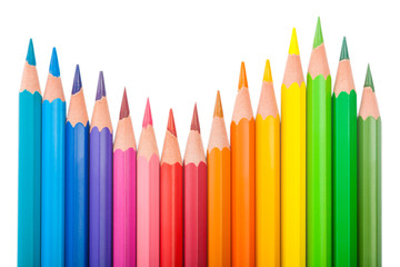 set of color pencils wave-shaped