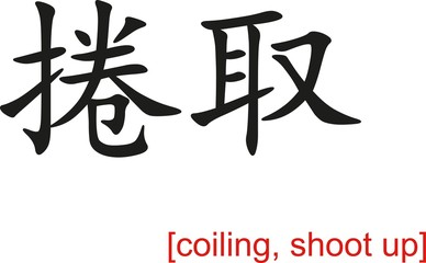Chinese Sign for coiling, shoot up