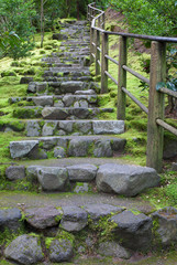 Long outdoor staircase