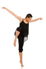 female contemporary dancer