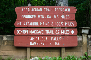 Appalachian Trail Approach Sign
