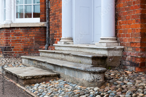 Aluminium Trappen Entrance to 18th century Georgian London, House