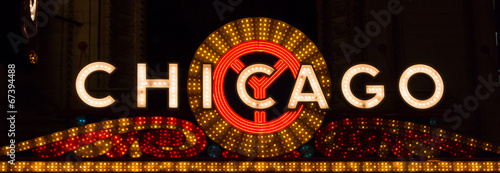 Chicago Sign Landscape - 67394488