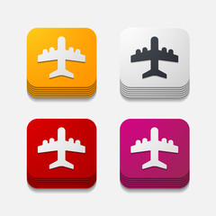 square button: plane