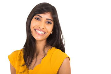cheerful indian woman