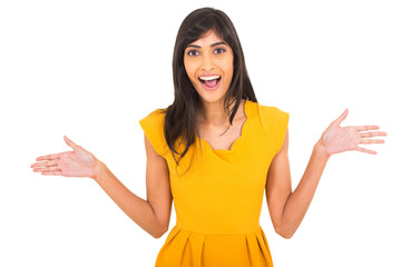 excited indian woman
