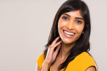 cheerful young indian woman