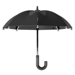 Slanting Black Umbrella