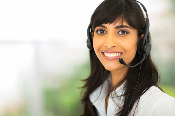 female indian call center operator