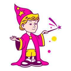 Wizard boy logo
