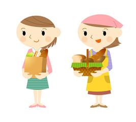 パン屋とお客