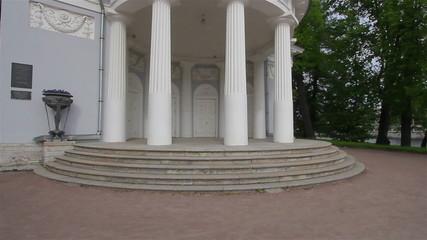 Pavilion under flag