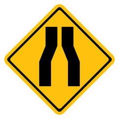 Warning sign Narrow Road
