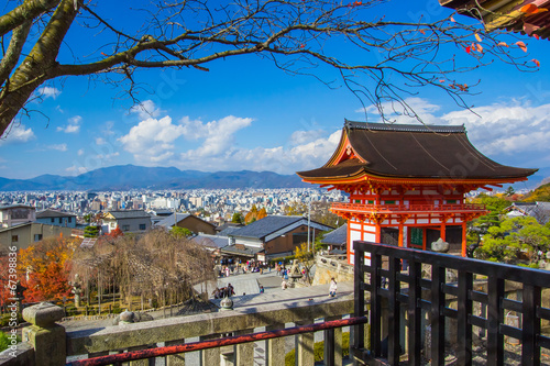 Kiyomizu Dera temple in Kyoto , Japan