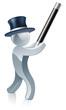 Silver mascot magician