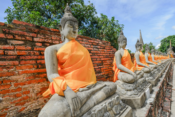 statues of Buddha in the temple