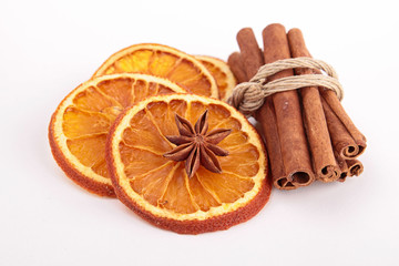 dried orange and cinnamon