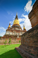 Pagoda of Wat Yai Chaimongkol, Thailand