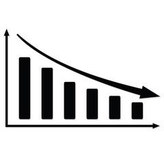 Black graph fall. Raster